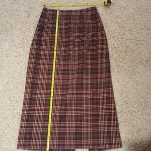 Women's Clothing Relativity Plaid Skirt Size 12 Nwt Fully Lined